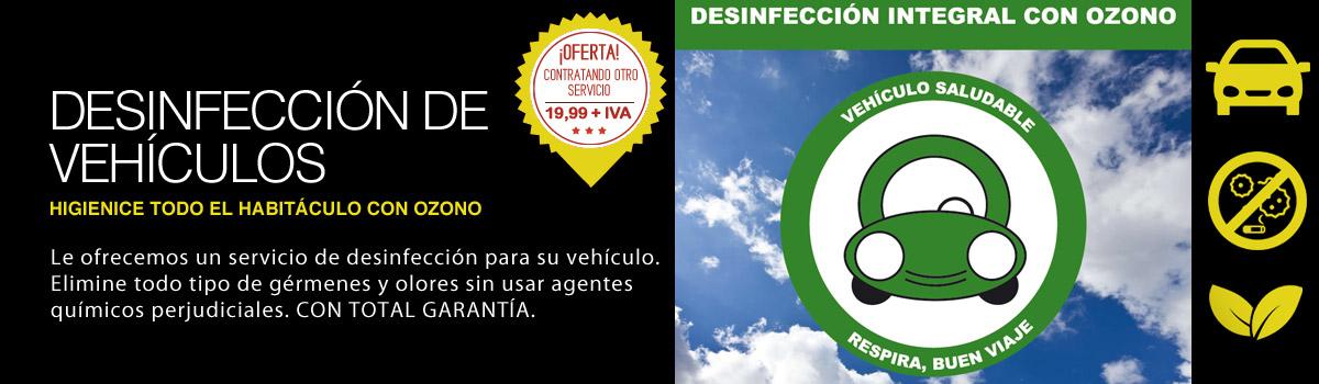 Desinfección de vehículos en Zaragoza