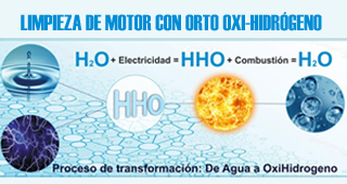 Limpieza del motor con orto-oxihidrógeno