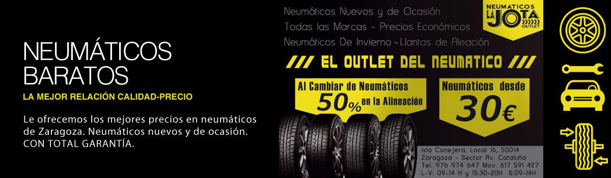 Venta de neumáticos baratos en Zaragoza